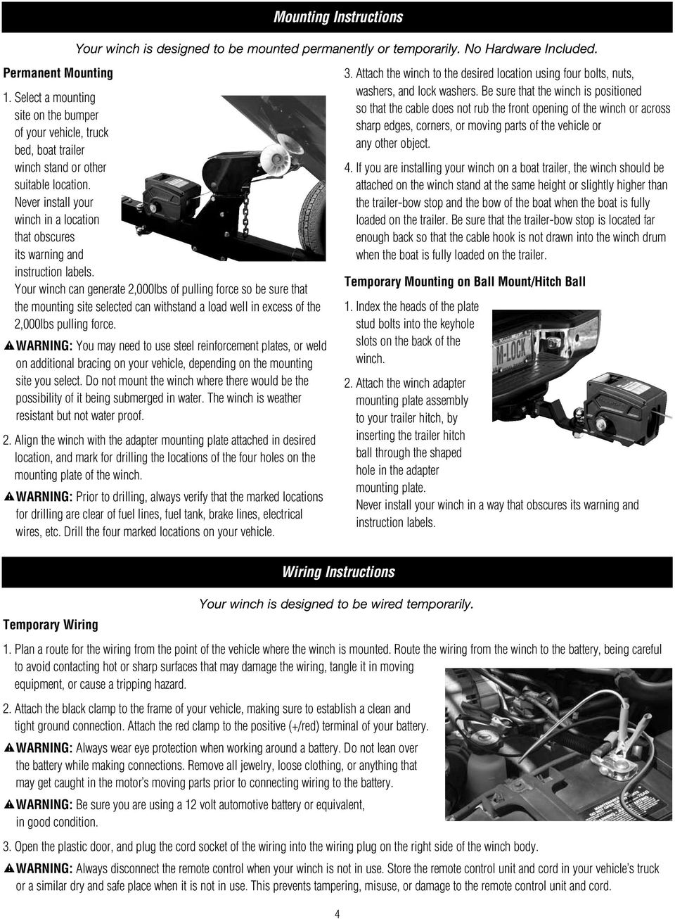12 Volt Electric Winch Owner s Manual. 2953AT Winch - PDF Warn Winch Wiring Diagram on