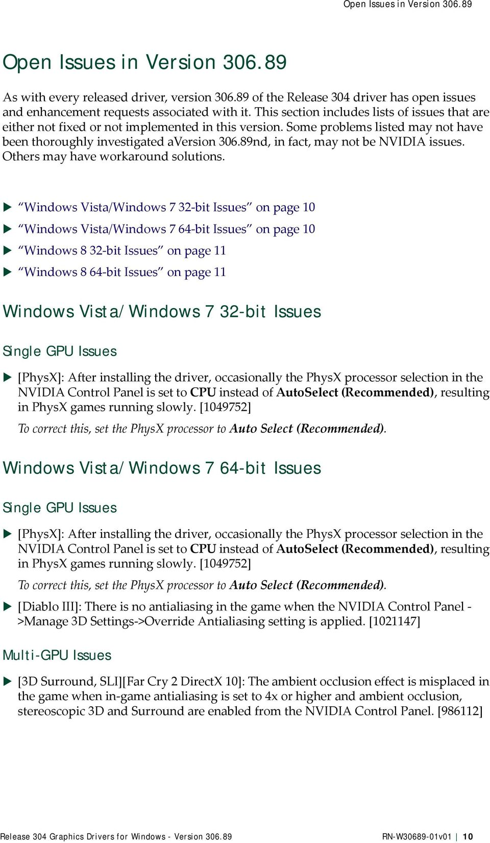 Release 304 Graphics Drivers for Windows - Version - PDF