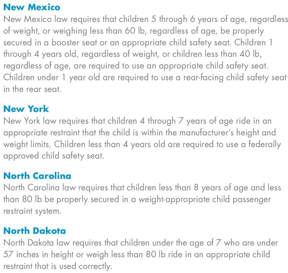 Us And Canada Child Safety Seat Law Guide Pdf