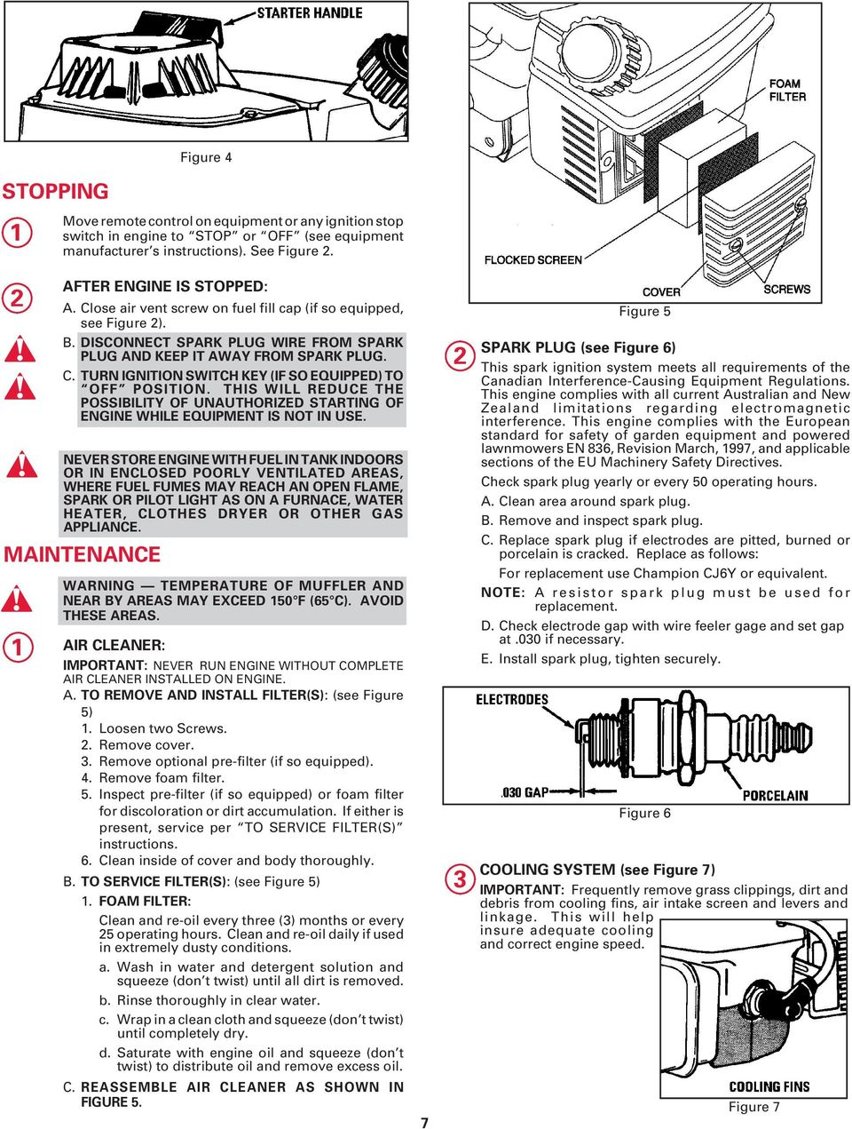 Operating Parts Manual 20 Hp Pdf Air Pressor Mag Ic Starter Wiring Diagram On Champion Compressor Turn Ignition Switch Key If So Equipped To Off Position This Will Reduce