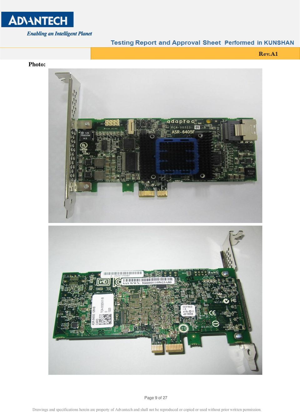 Adaptec RAID 5445 PCI-E Adapter AACRAID Vista