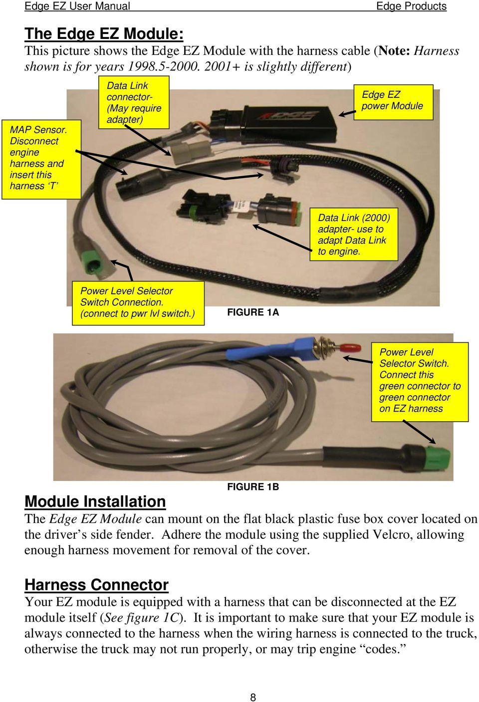 Edge Tuner Wire Harness Wiring Library For Battery S 36 Volt Diagrams Dodge Cummins 5 9l 24 Valve Products Ez Module Installation Ezgo Diagram