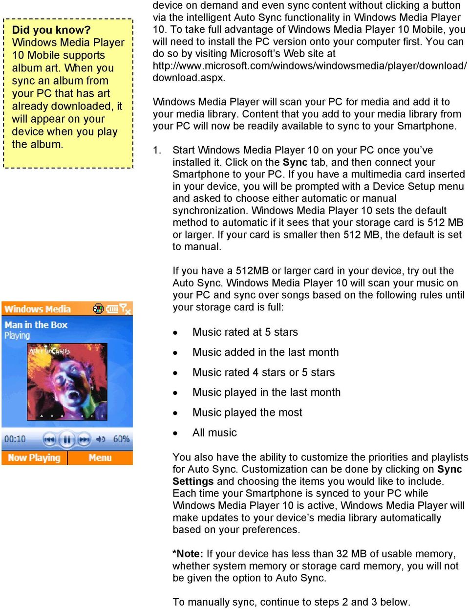 Windows Media Player 10 Mobile: More Music, More Choices - PDF