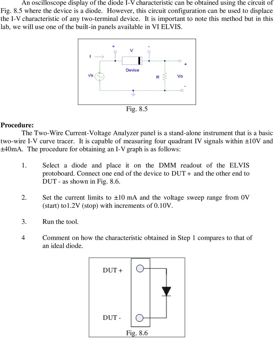 Diode Circuits Laboratory Fig 81a 81b Pdf Curve Tracer Circuit Oscilloscope It Is Important To Note This Method But In Lab We Will Use One 4