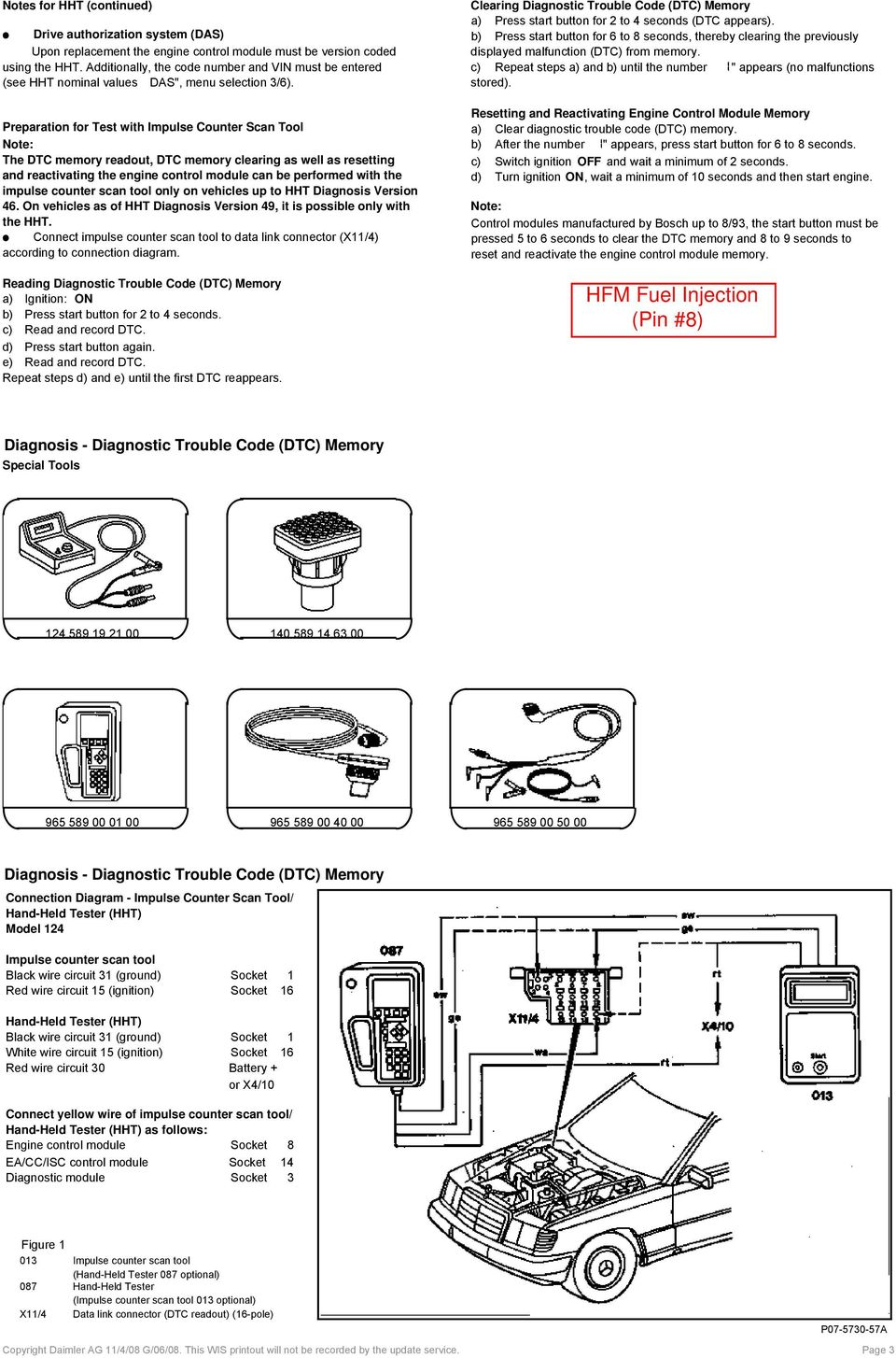 W124 Diagnostic Trouble Codes (DTC) Models with M104 Engine Only! - PDF