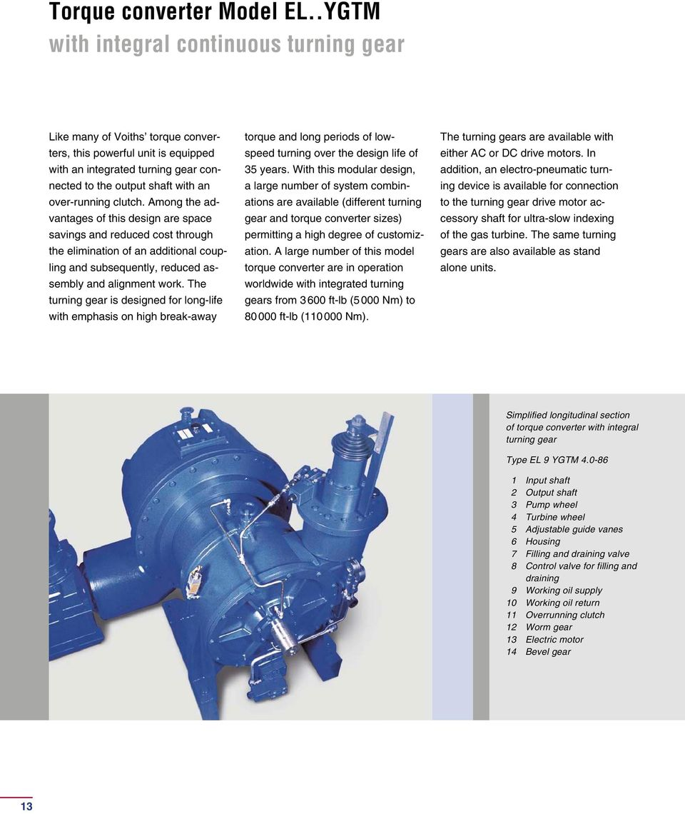 Voith Torque Converter Starting System For Gas Turbines Pdf Automations Gt Motor Control Circuits High Speed Clutch Among The Advantages Of This Design Are Space Savings And Reduced Cost Through