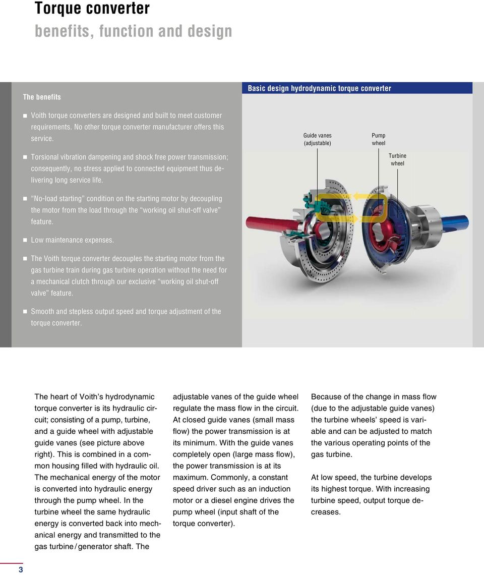 Voith Torque Converter Starting System for Gas Turbines - PDF