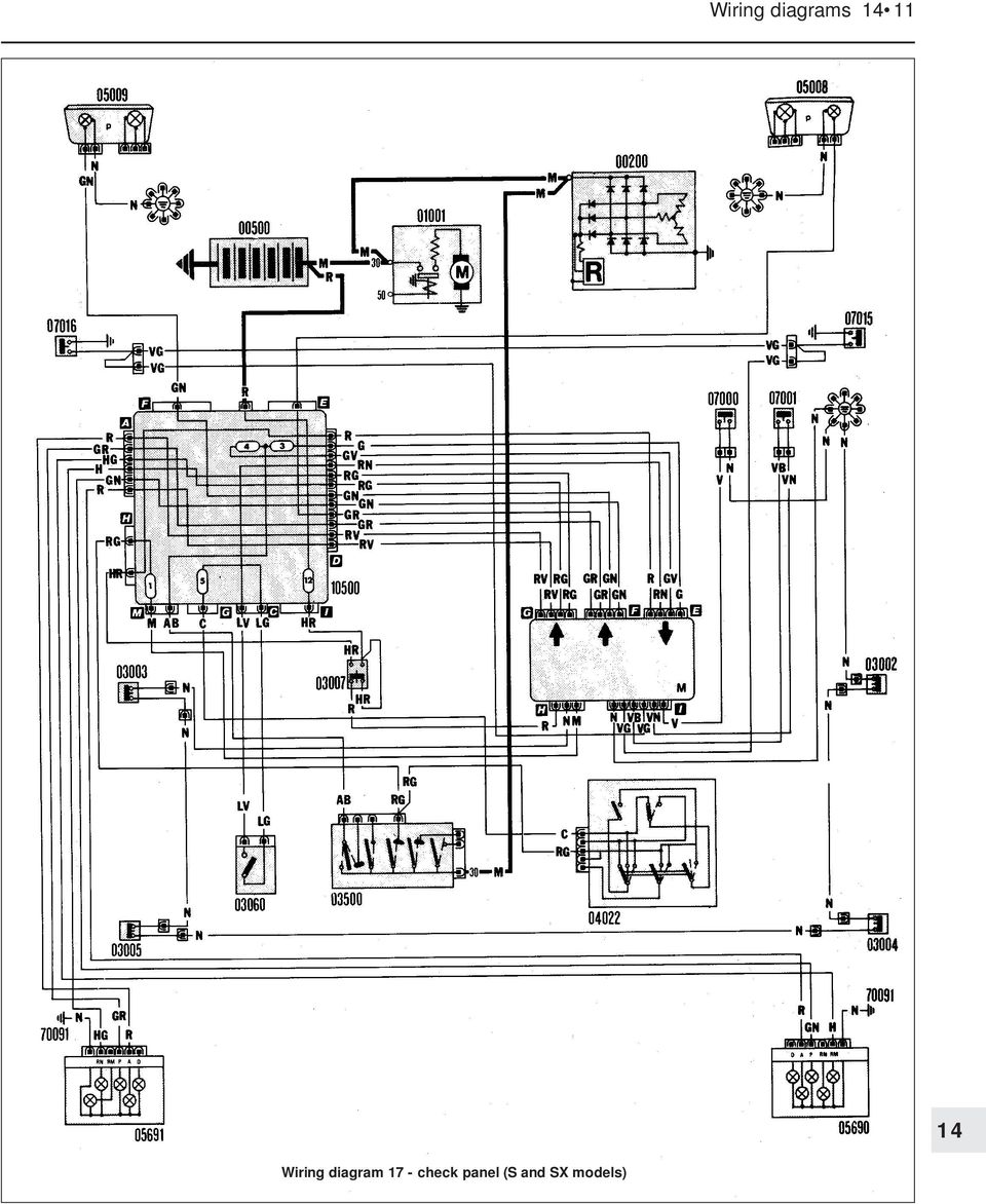 Wiring Diagrams Component Key For 1 To 29 Note Not 2005 Toyota Corolla Engine Diagram Distributor Less 17 Check