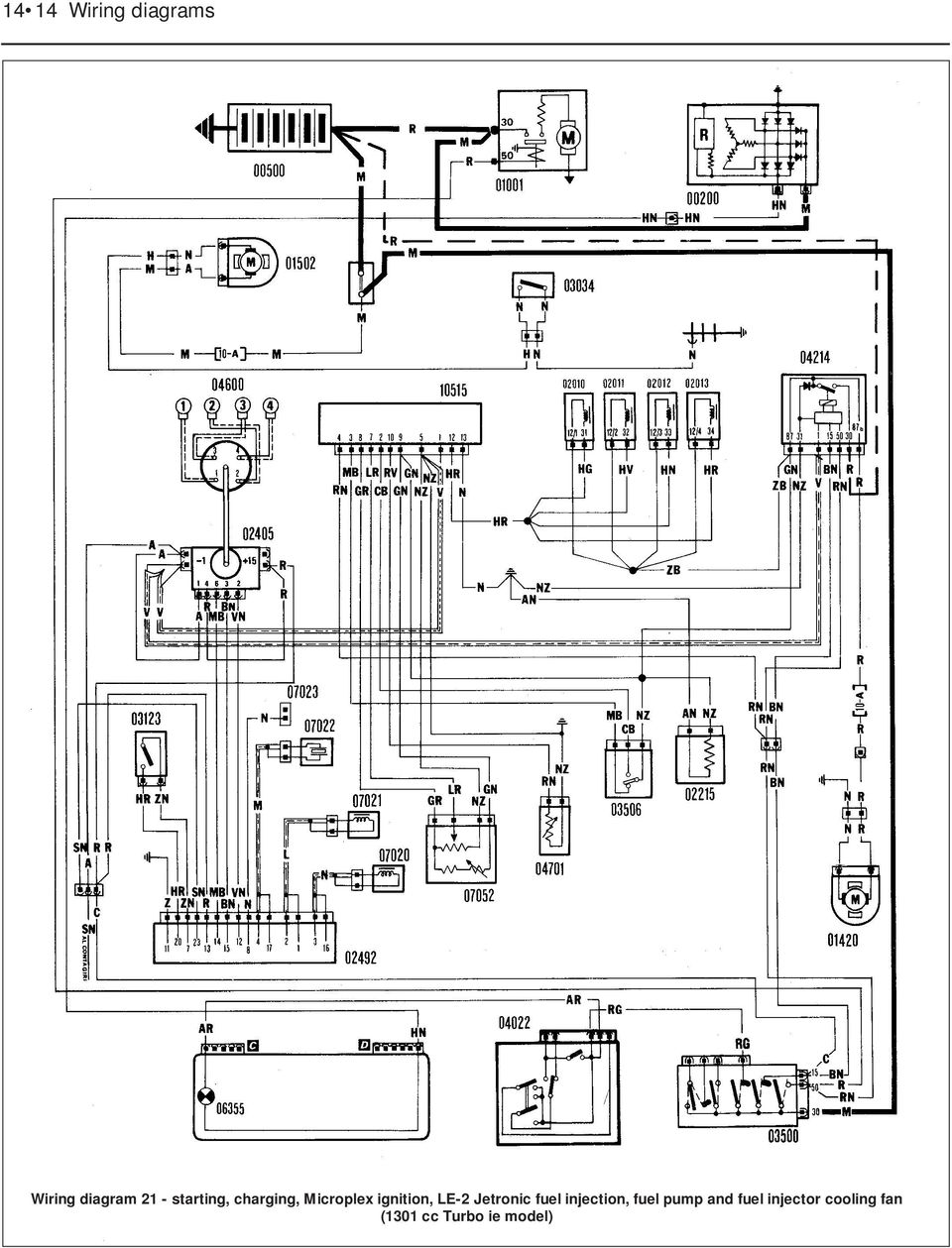Wiring Diagrams Component Key For 1 To 29 Note Not 2005 Toyota Corolla Engine Diagram Distributor Less Le 2 Jetronic Fuel Injection Pump And