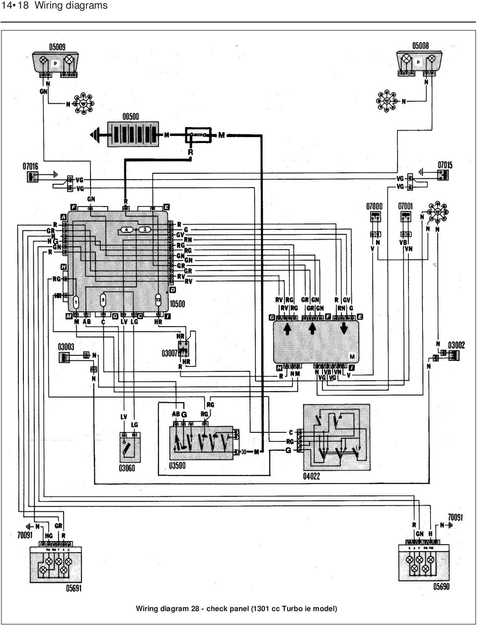 Wiring Diagrams Component Key For 1 To 29 Note Not 2005 Toyota Corolla Engine Diagram Distributor Less 28 Check