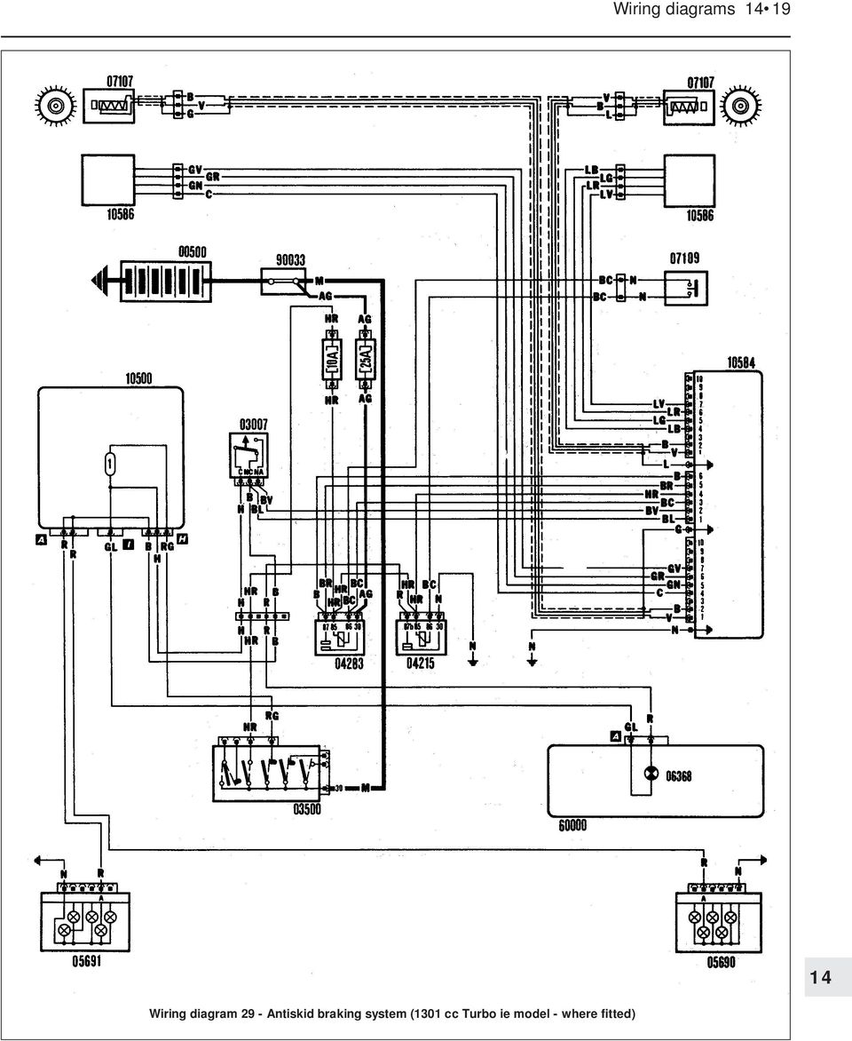 Wiring Diagrams Component Key For 1 To 29 Note Not 4 Elm Light Diagram Antiskid Braking System