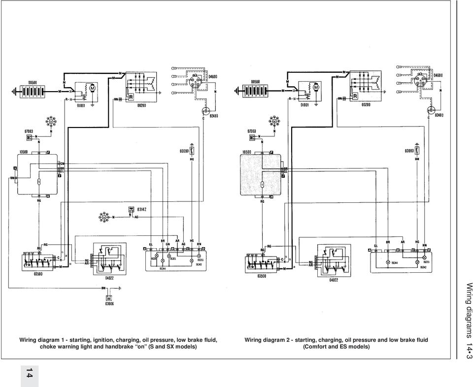 Wiring diagrams component key for wiring diagrams 1 to 29 note not models wiring diagram 2 starting charging oil pressure and swarovskicordoba Images