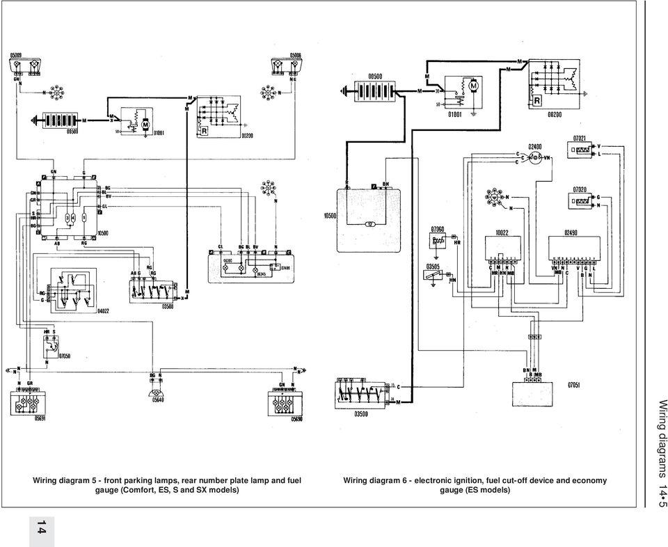 Wiring Diagrams Component Key For Wiring Diagrams 1 To 29 Note Not