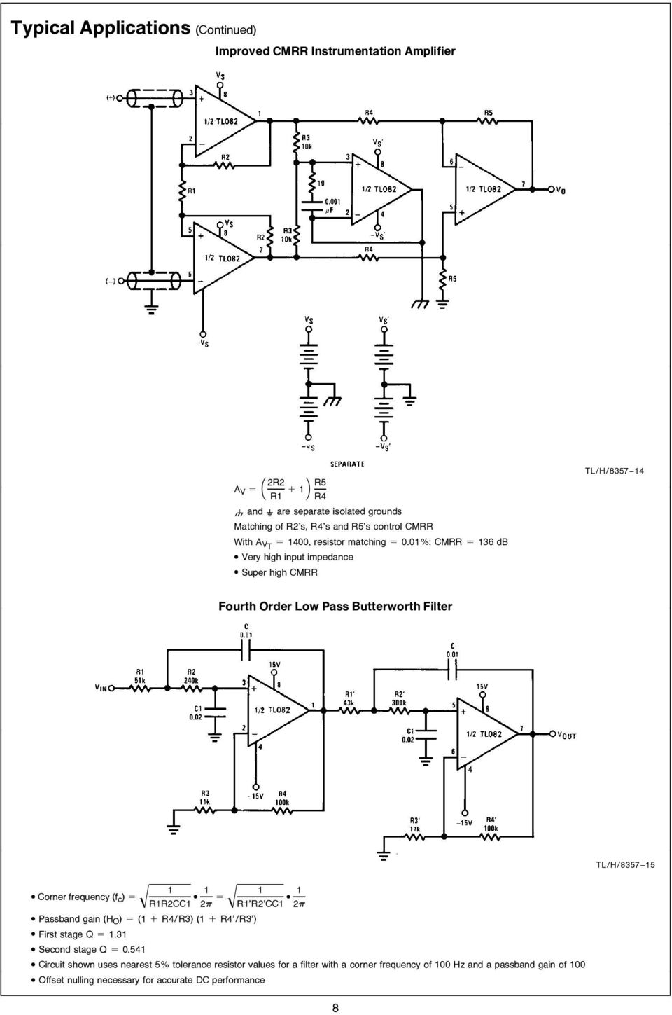 TL082 Wide Bandwidth Dual JFET Input Operational Amplifier - PDF