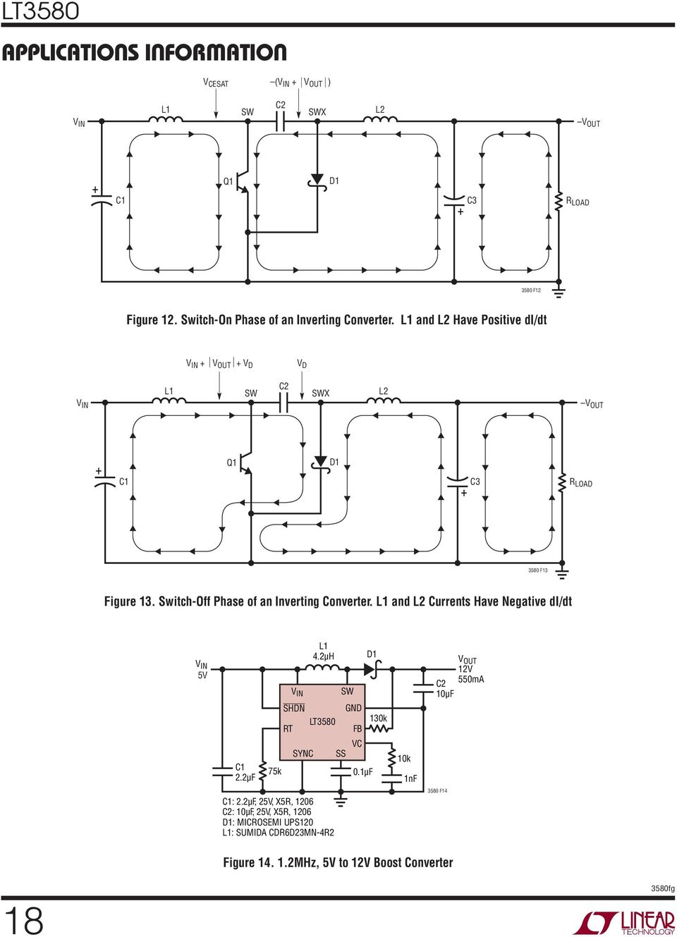 Lt K Boost Inverting Dc Converter With 2a Switch Soft Start Ltc4425 Linear Supercap Charger Electronc Circuit Diagram Off Phase Of An L And L2 Currents Have Negative Di