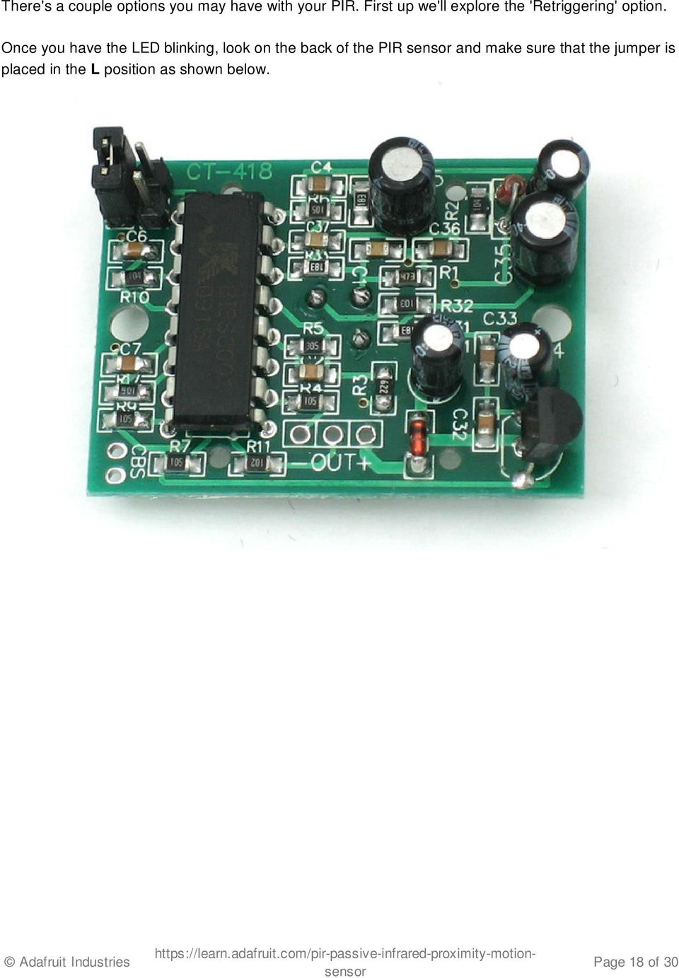 Pir Motion Sensor Created By Lady Ada Last Updated On 3258 Pm Microcontroller Based Diy Project For Power Saving Using Once You Have The Led Blinking Look Back Of