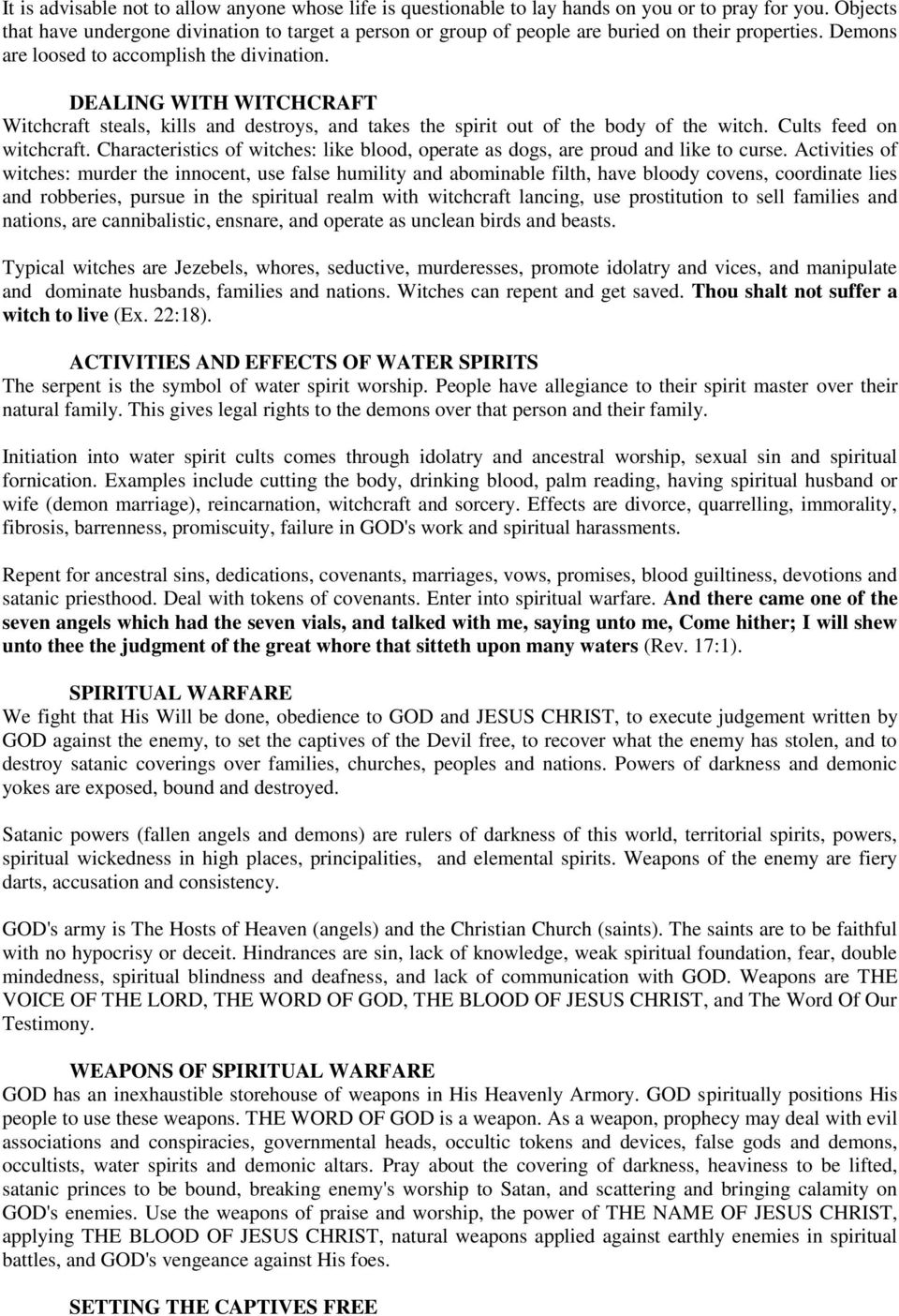 WITCHCRAFT DELIVERANCE MANUAL -1 (part 1) - PDF