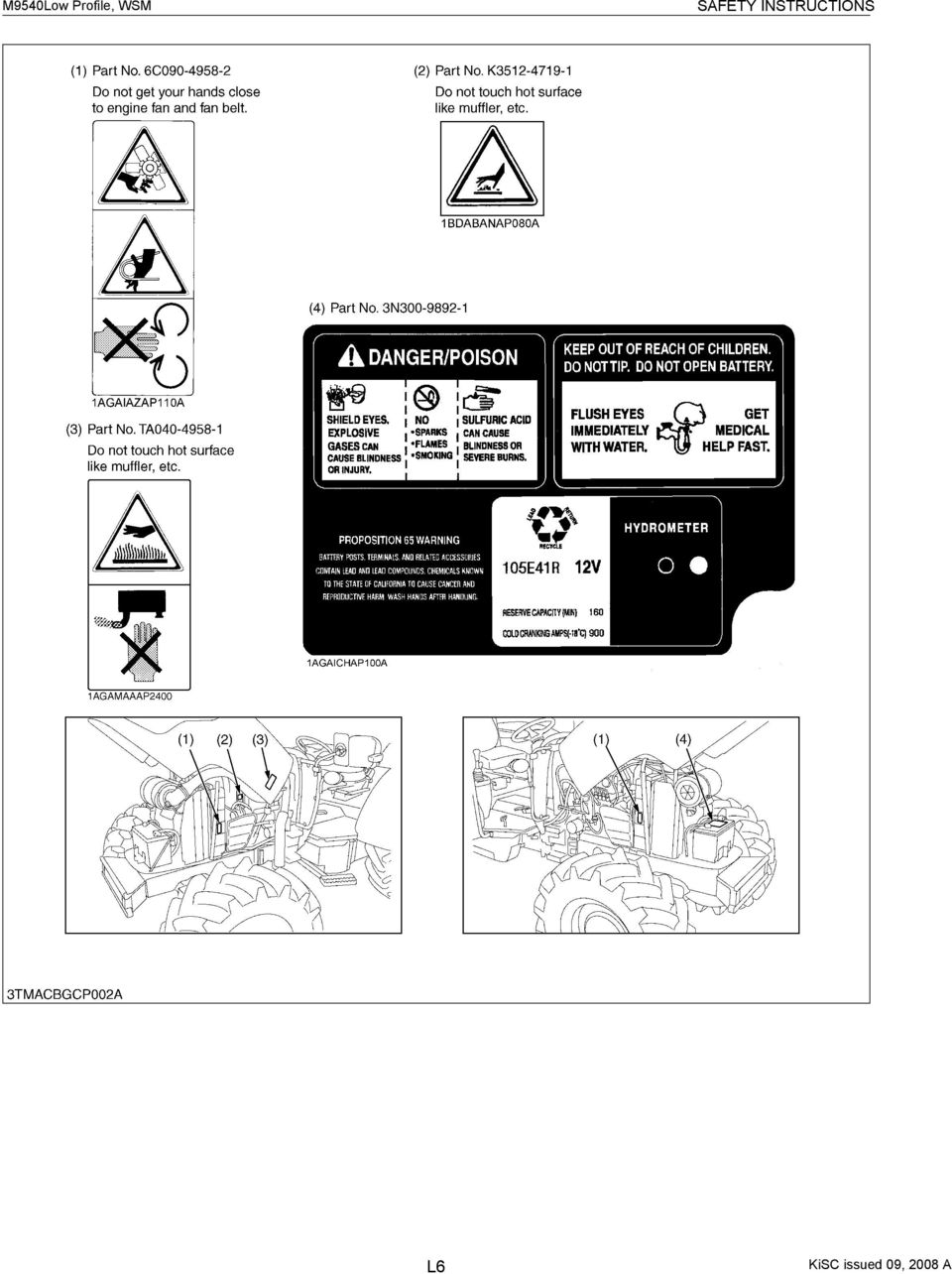 Workshop Manual Tractor M9540 Low Profile Supplement Pdf Hydraulic Clutch System Diagram Furthermore Fuel Injector Rail 8 Safety Instructions L6