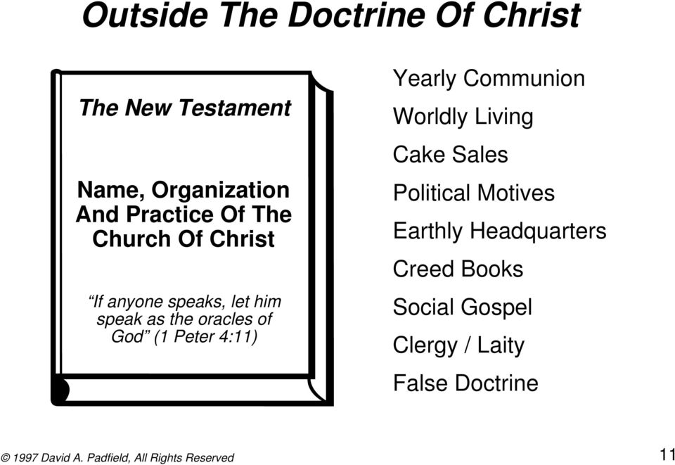 oracles of God (1 Peter 4:11) Yearly Communion Worldly Living Cake Sales