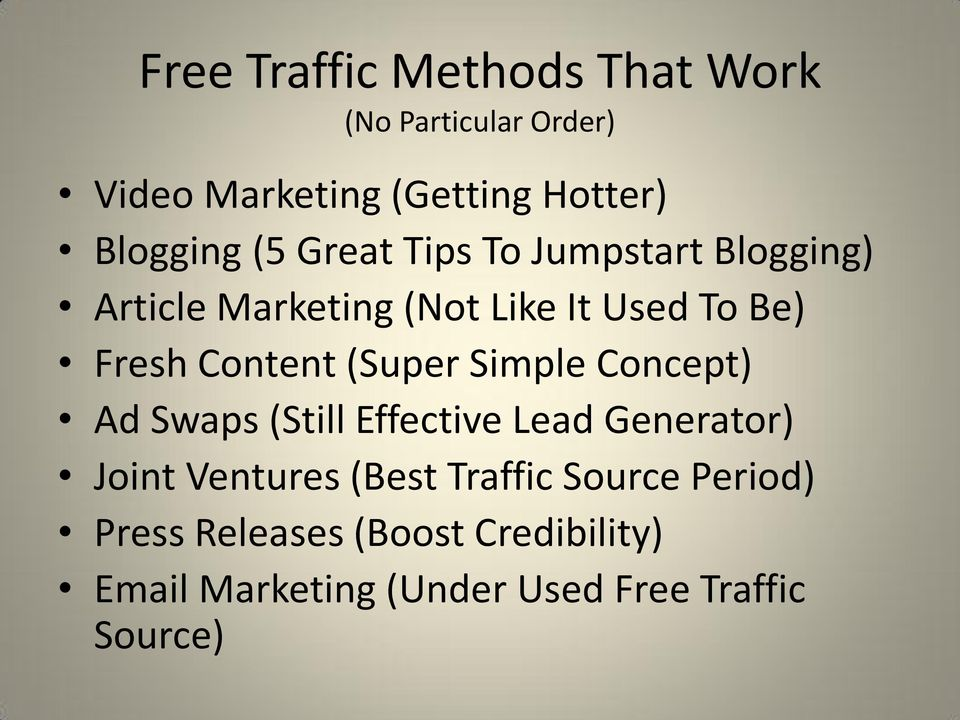 (Super Simple Concept) Ad Swaps (Still Effective Lead Generator) Joint Ventures (Best Traffic
