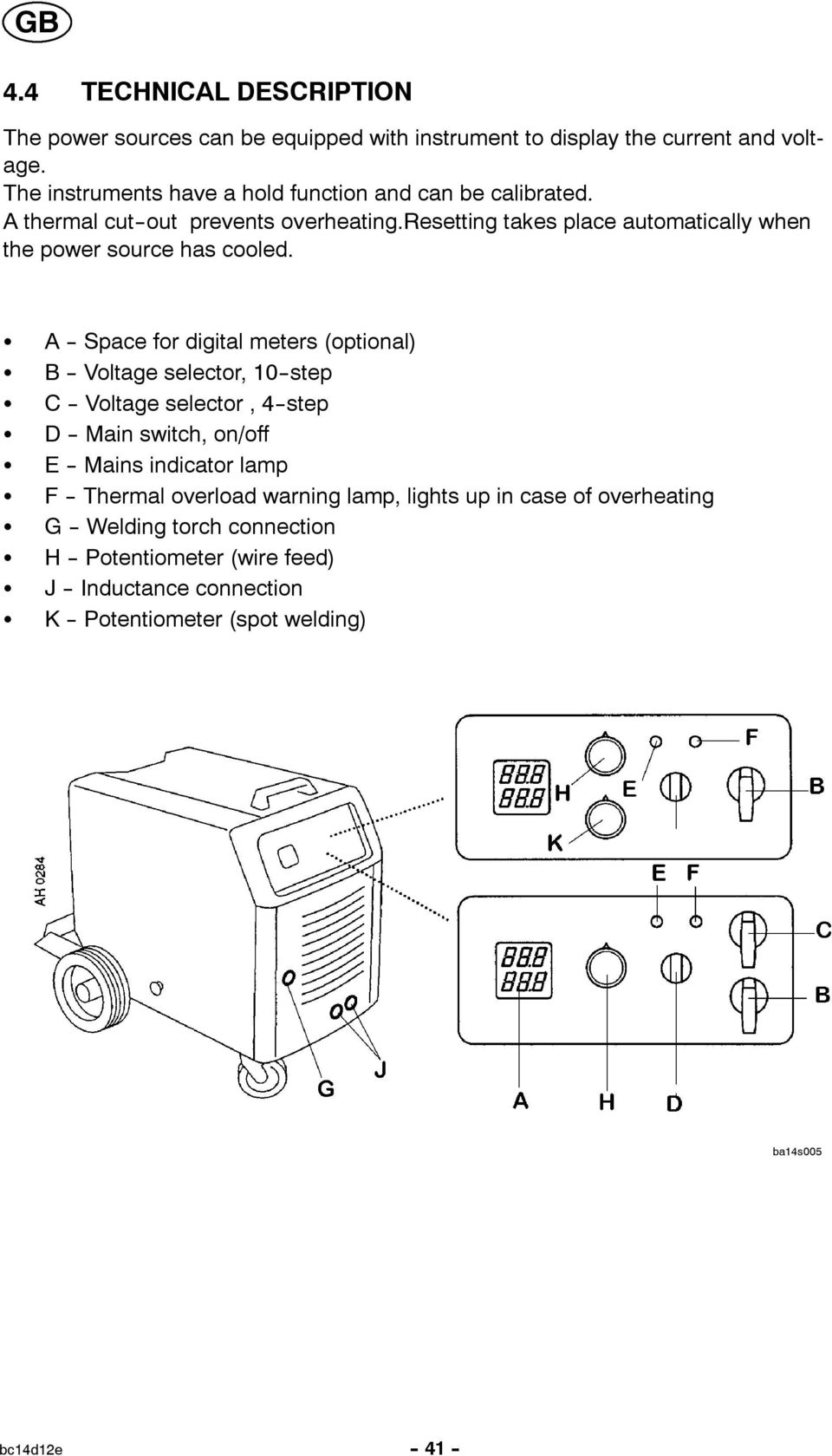 Lkb 265 320 Bruksanvisning Brugsanvisning Spot Welding Wiring Diagram Resetting Takes Place Automatically When The Power Source Has Cooled