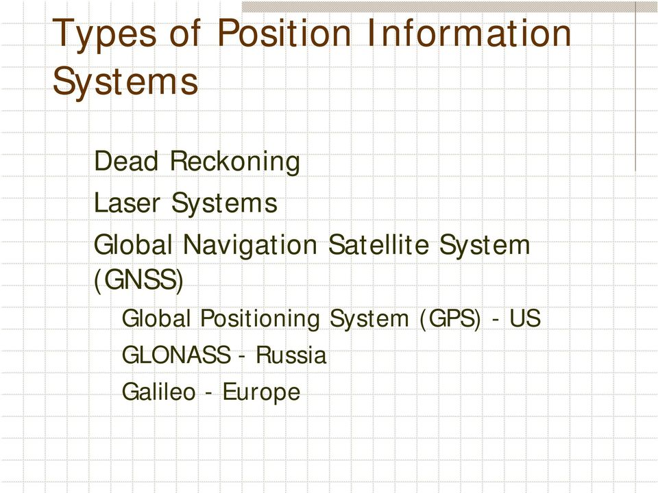 Satellite System (GNSS) Global Positioning