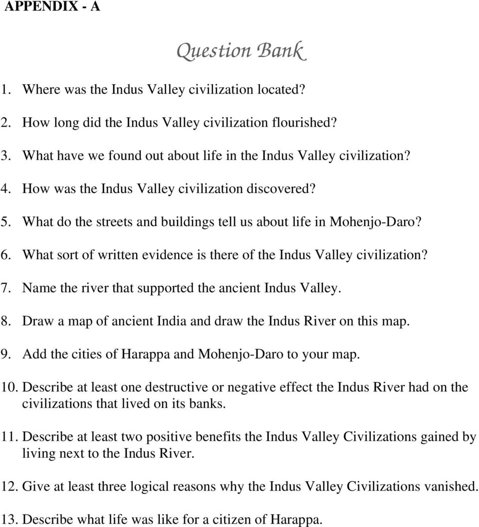 The Ancient Indus Valley Civilization - PDF on indus valley harappa, ancient indus valley civilization cities, indus valley buildings, nile valley cities, indus valley grid system, minnesota river valley cities, huang he river valley cities, fertile crescent cities, indus valley houses, indus valley desert, indus valley ruins,