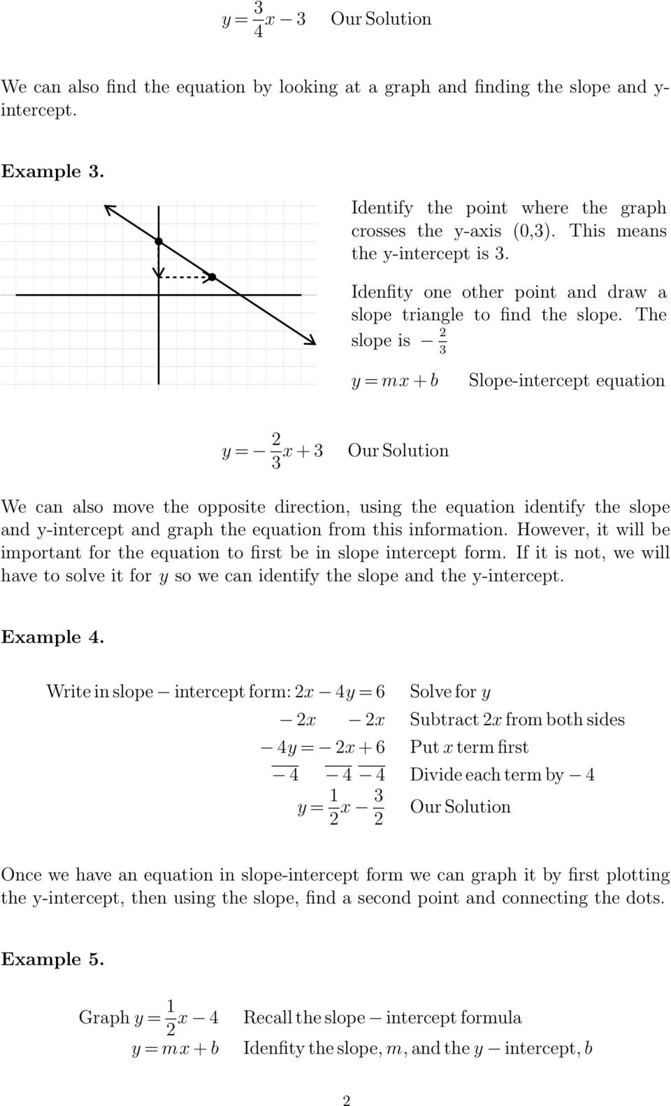 graphing - slope-intercept form - pdf