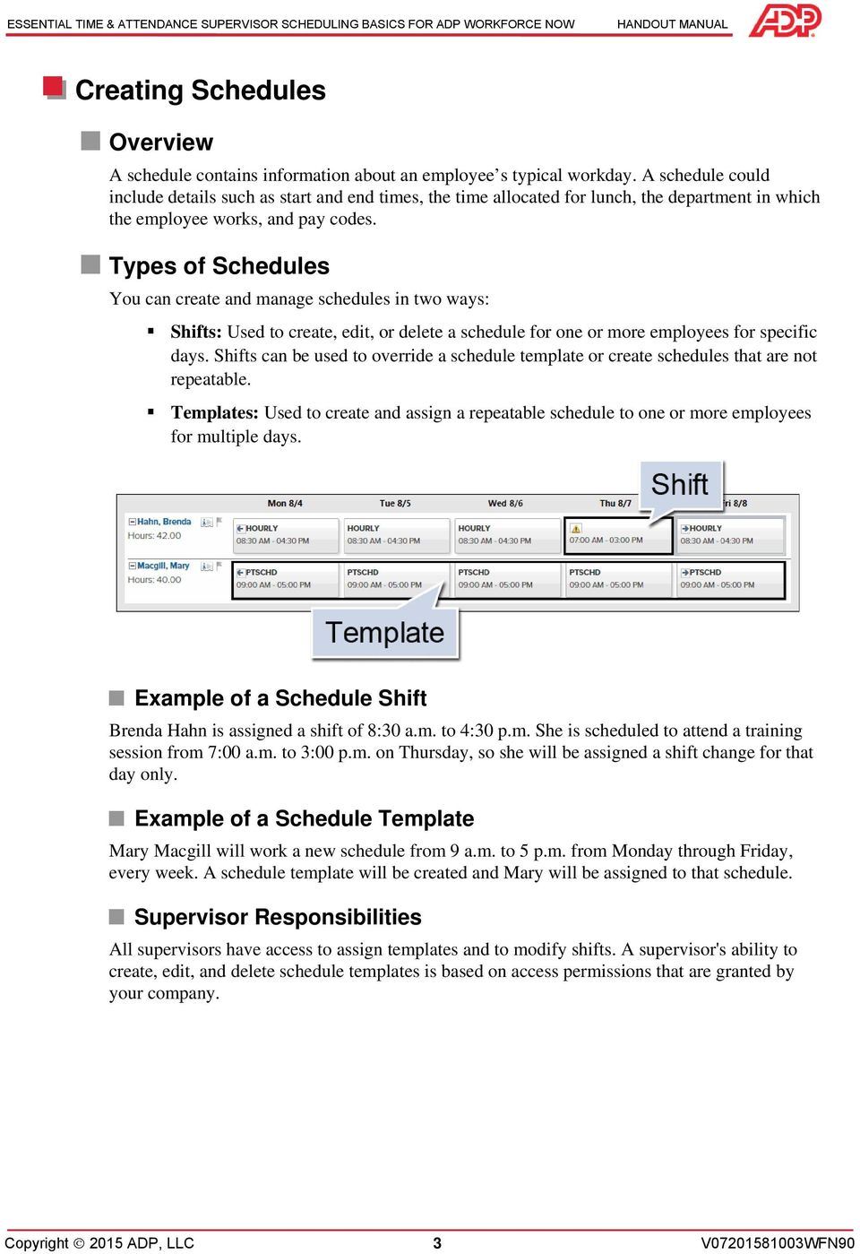 essential time attendance supervisor scheduling basics pdf