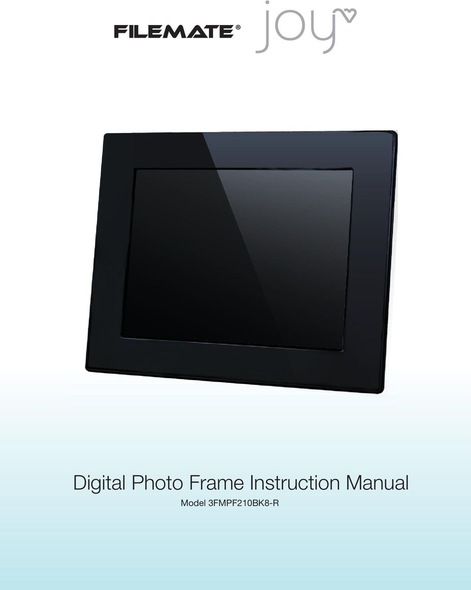 Pandigital Picture Frame Instructions