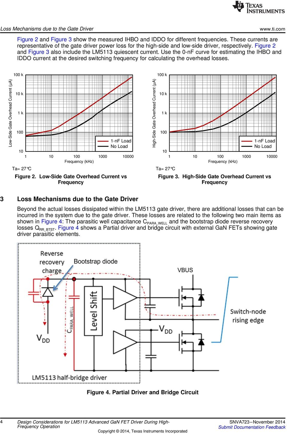 Design Considerations For Lm5113 Advanced Gan Fet Driver During High Capacitive Low Side Switch Revisionb Use The 0 Nf Curve Estimating Ihbo And Iddo Current At Desired