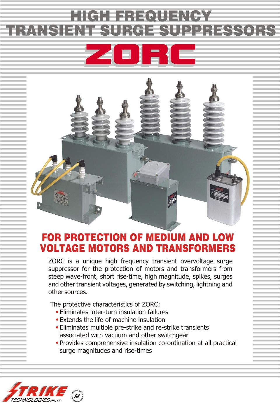 High Frequency Transient Surge Suppressors Pdf And Capacitor Switches Cause Most Singlephase Motor Malfunctions Switching Lightning Other Sources