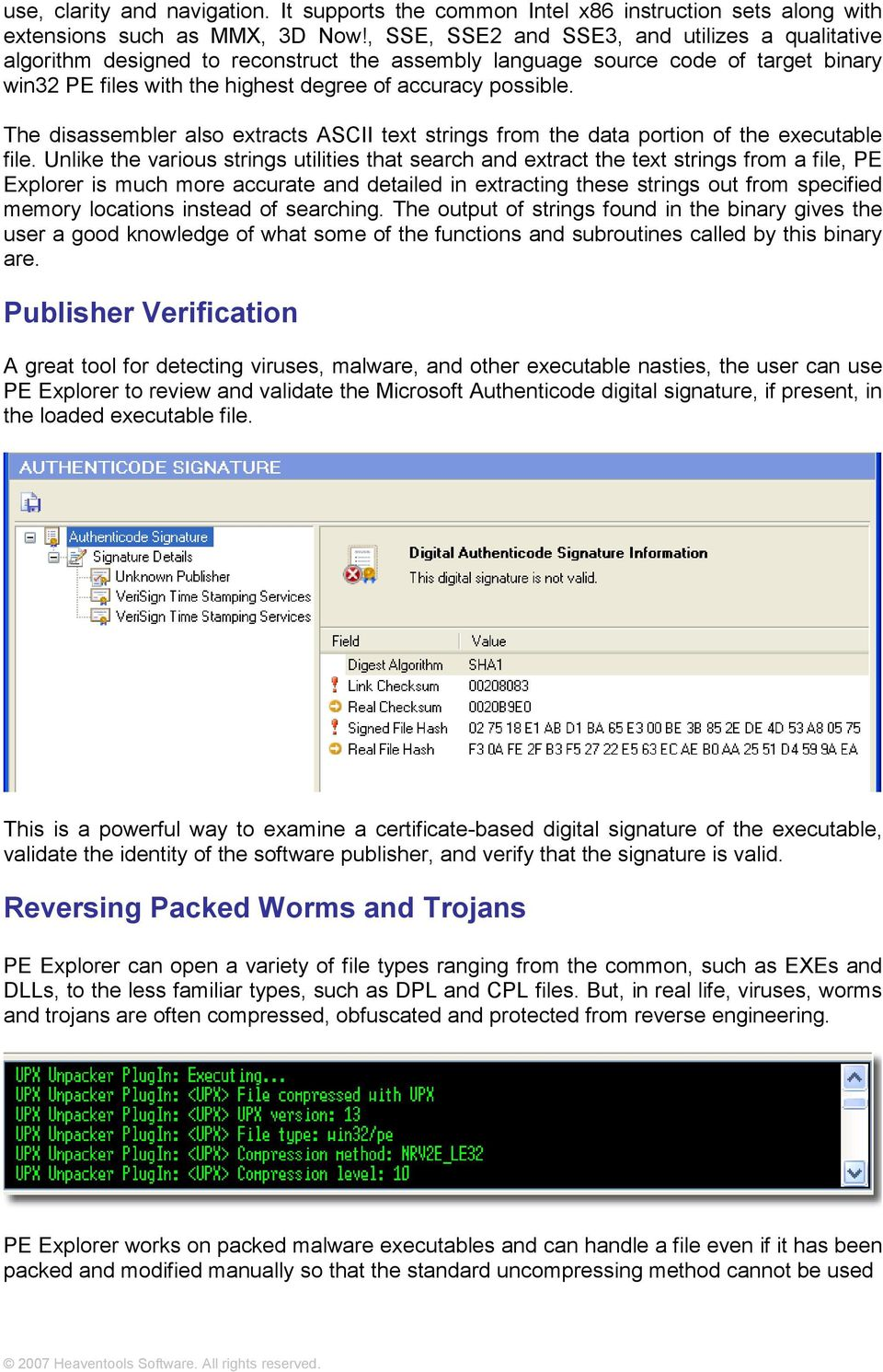 PE Explorer  Heaventools  Malware Code Analysis Made Easy - PDF