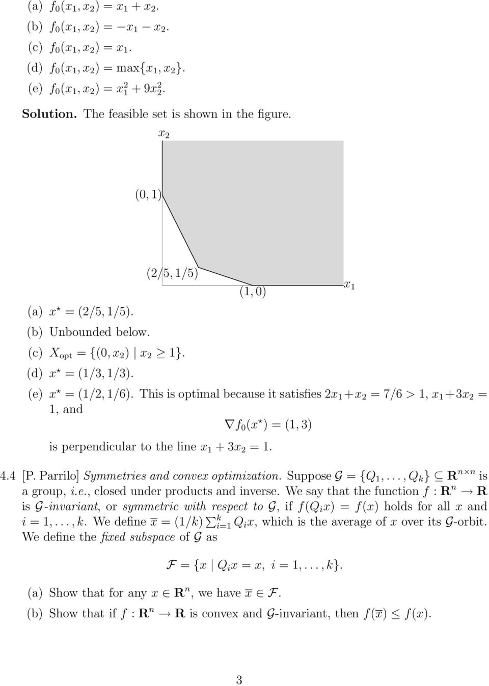 ee364a homework 3 solutions