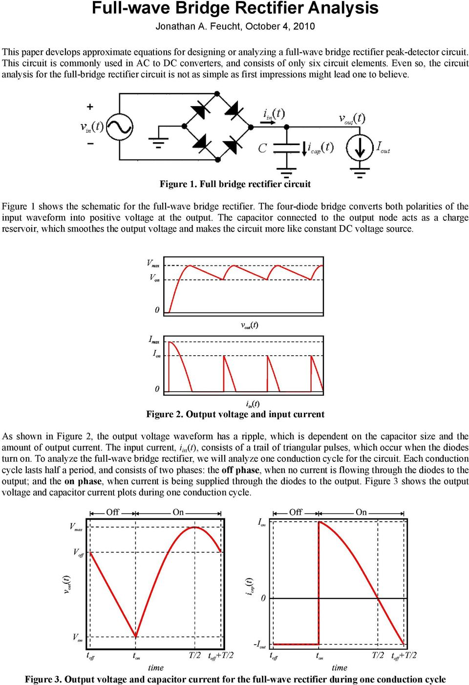Full Wave Bridge Rectifier Analysis Pdf Circuit Of Brige Recifier Circui Figure Shows He Schemaic For