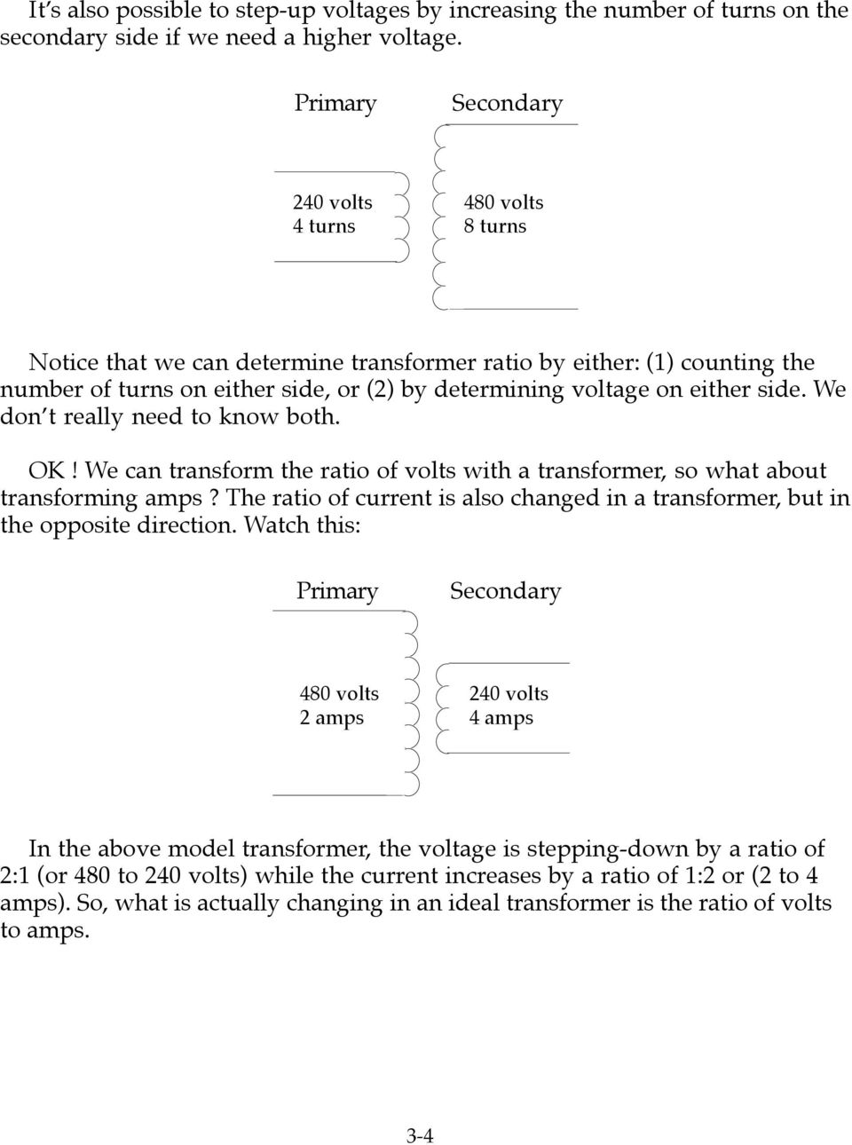 Transformer Calculations Pdf How To Increase Currents Of A E Don T Really Need Know Both Ok Can Transform The Ratio