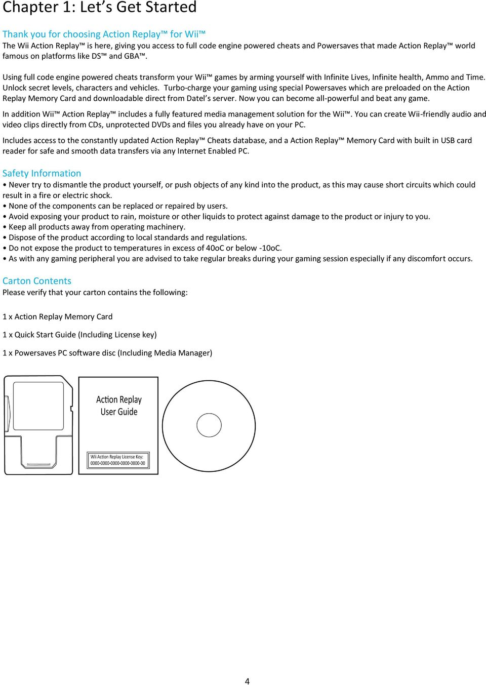 Action Replay For Wii User Guide - PDF