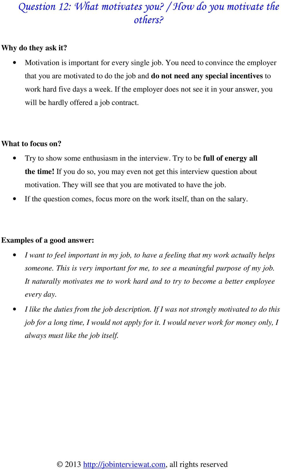 15 Most Typically Used Interview Questions And Answers Pdf
