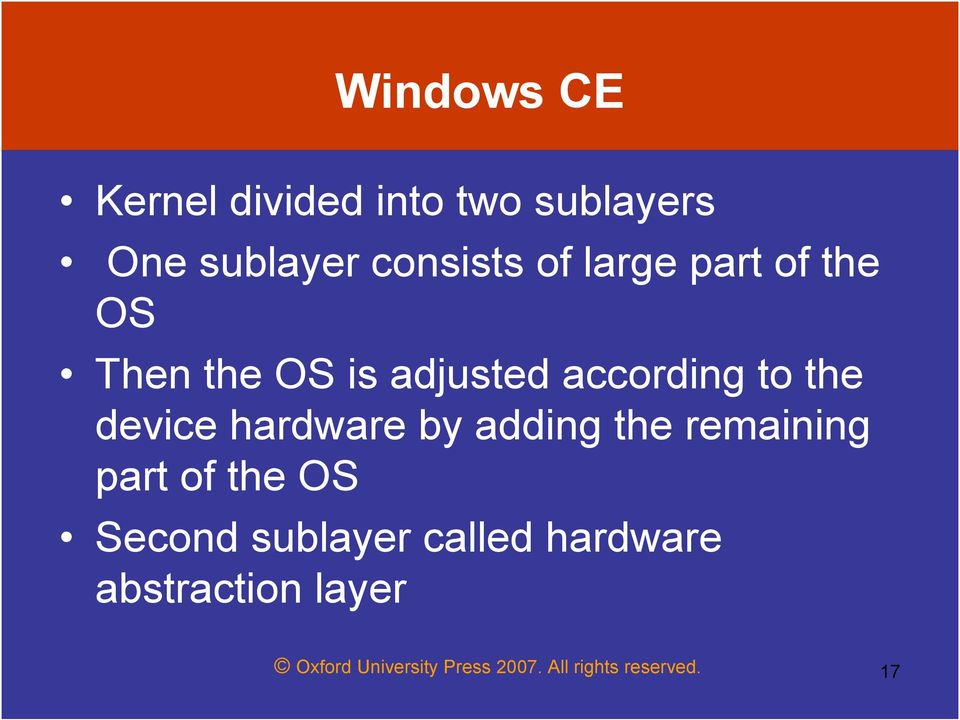 hardware by adding the remaining part of the OS Second sublayer called