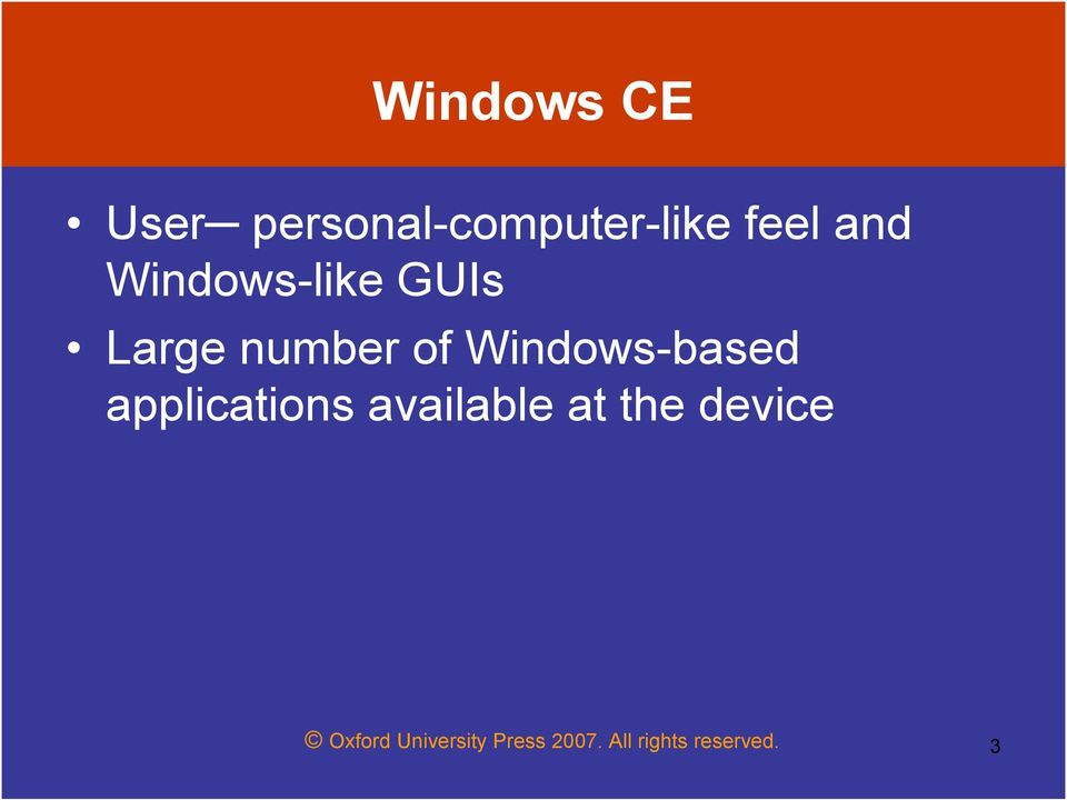 Windows-based applications available at the