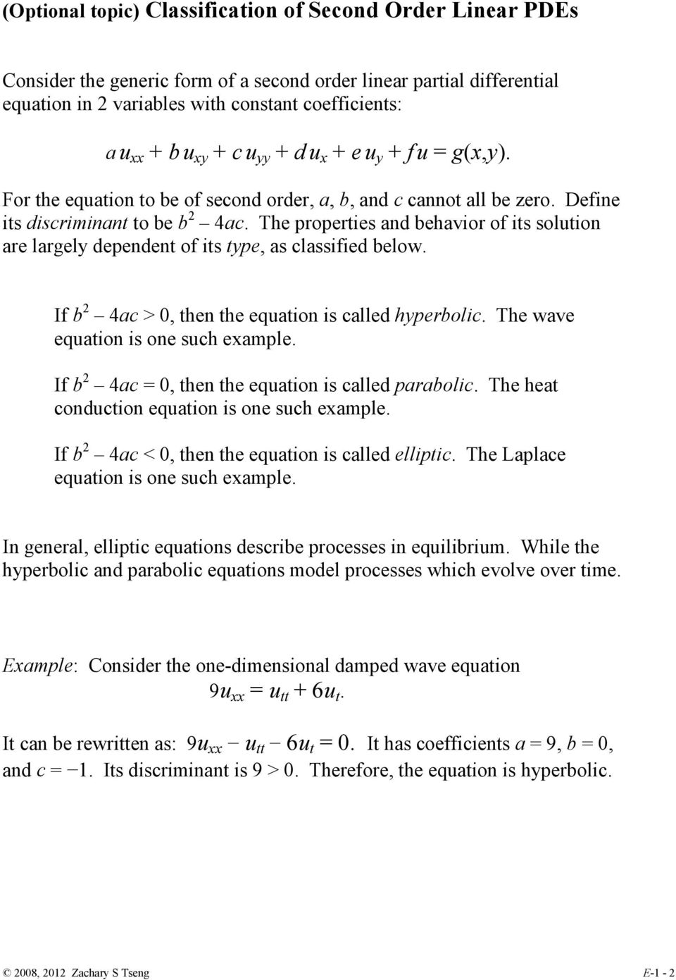 Second Order Linear Partial Differential Equations  Part I - PDF