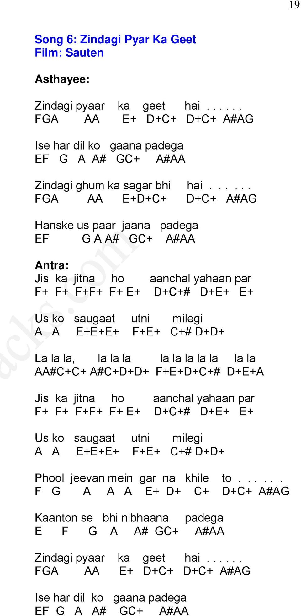 More Than 100 Famous Indian Song Notations 200 Pages Produced By Pdf
