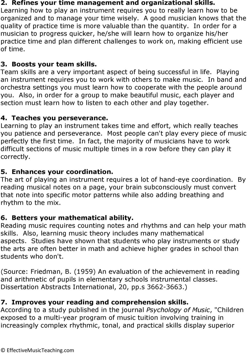 18 Benefits of Playing a Musical Instrument - PDF