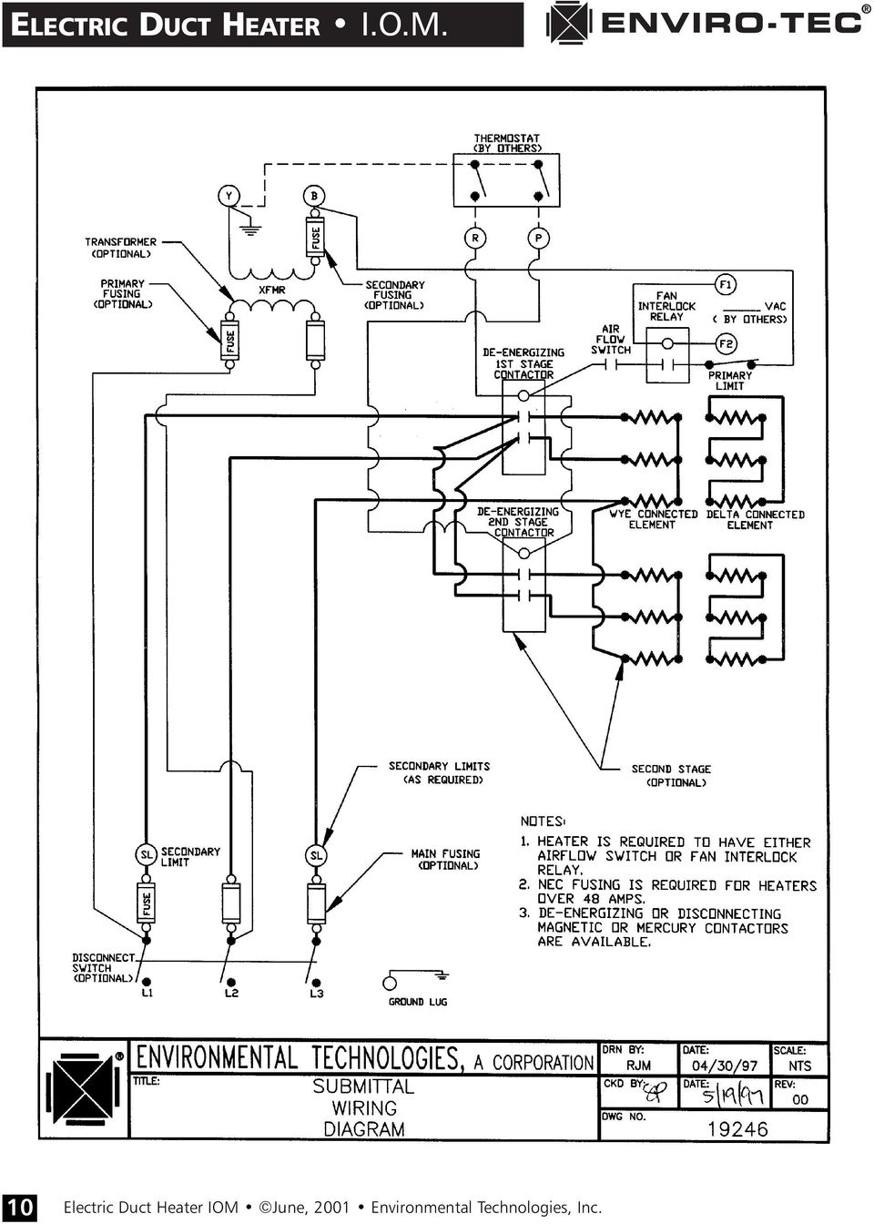 Electric Oil Heater Wiring Diagram