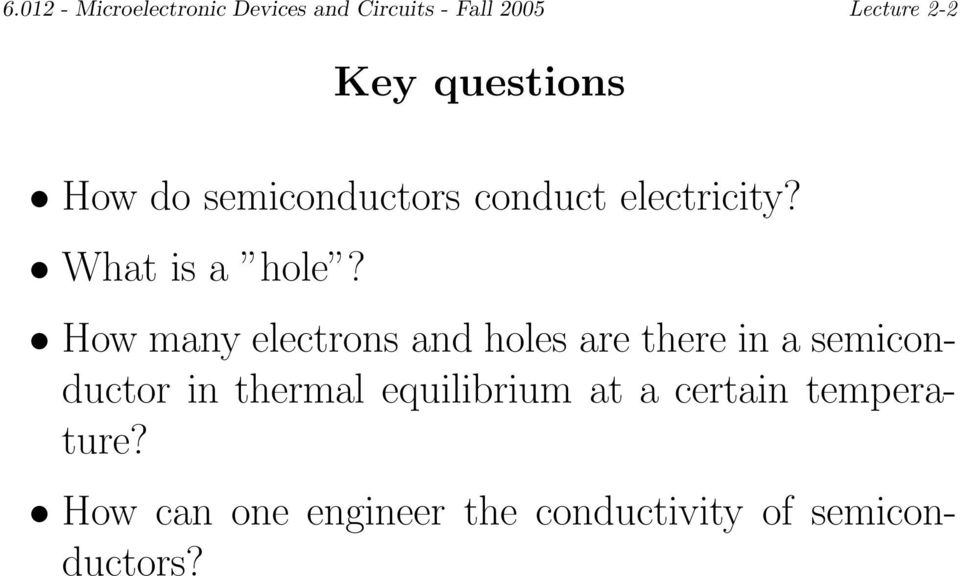 How many electrons and holes are there in a semiconductor in thermal