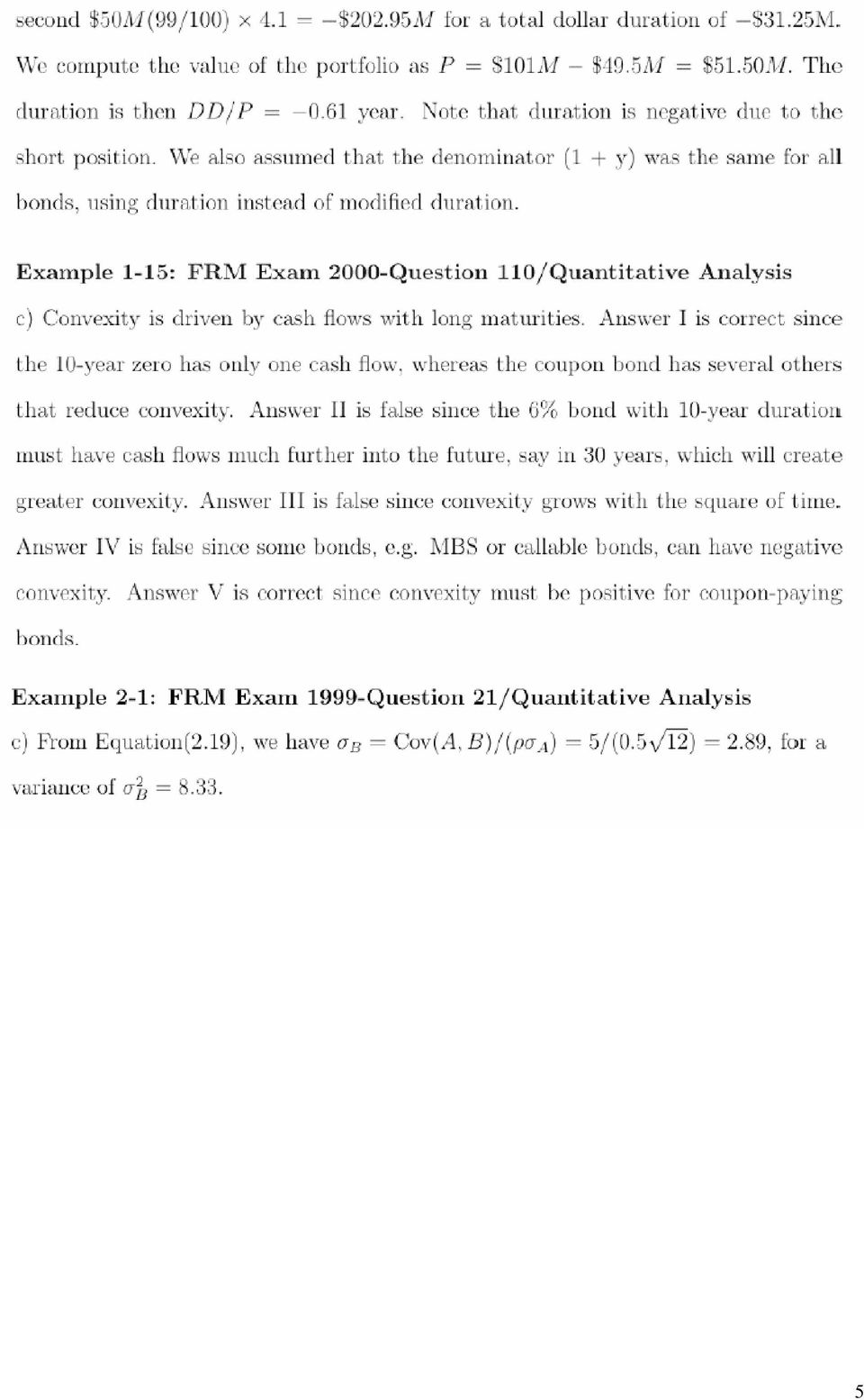 Financial Risk Management Exam Sample Questions/Answers - PDF