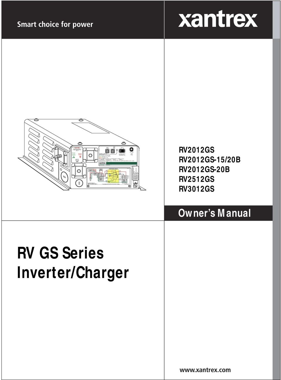 PN PN This Inverter/Charger has been factory. programmed to ... Xantrex Inverter Charger Rv Wiring Diagram on