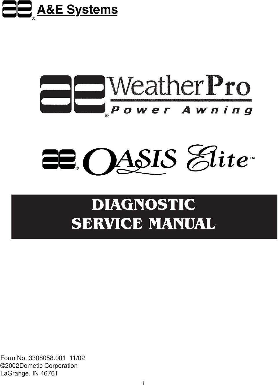 DIAGNOSTIC SERVICE MANUAL - PDF