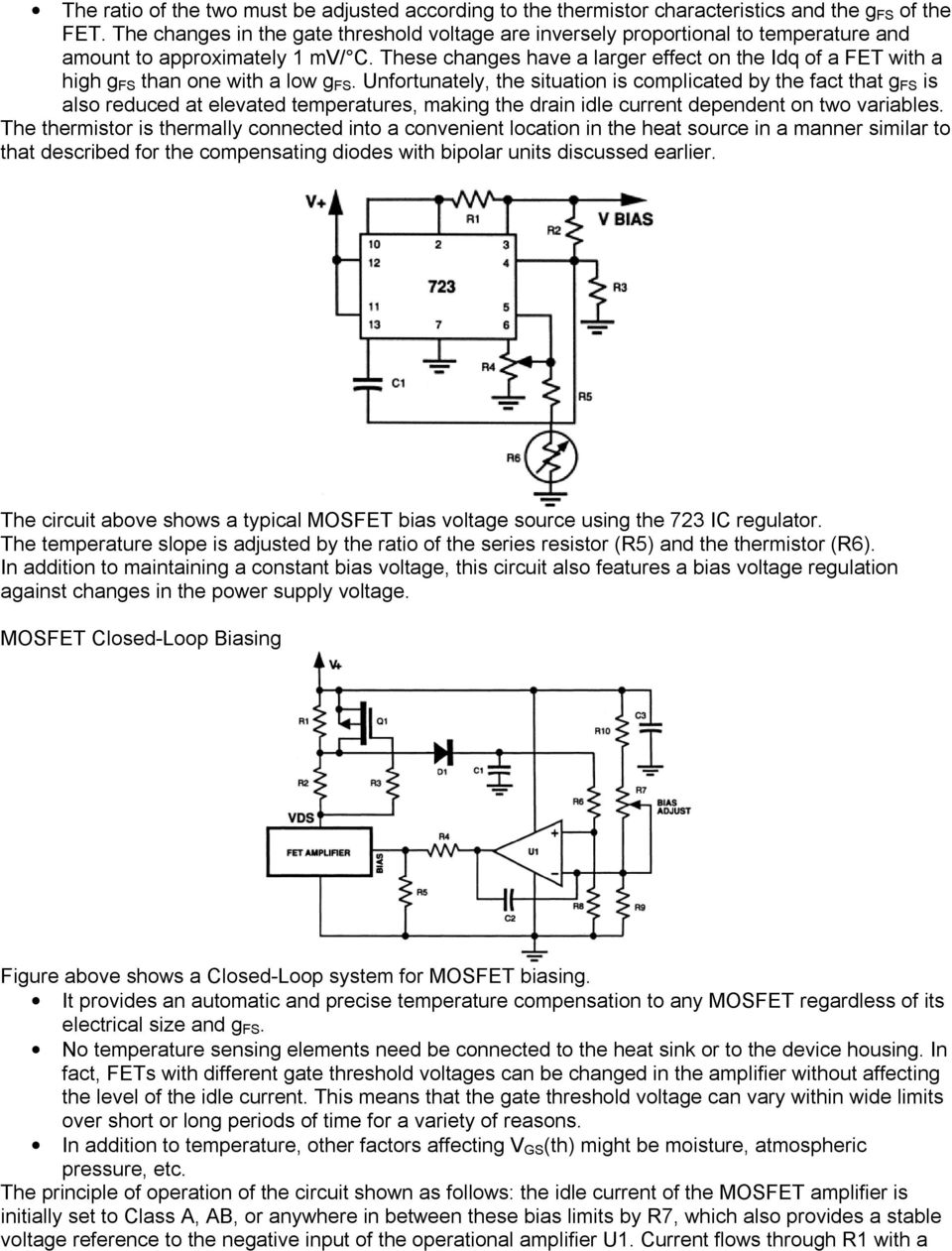 Bias Circuits For Rf Devices Pdf Supply Level At Ac The Circuit Looks Like Your Basic Inverting These Changes Have A Larger Effect On Idq Of Fet With High G