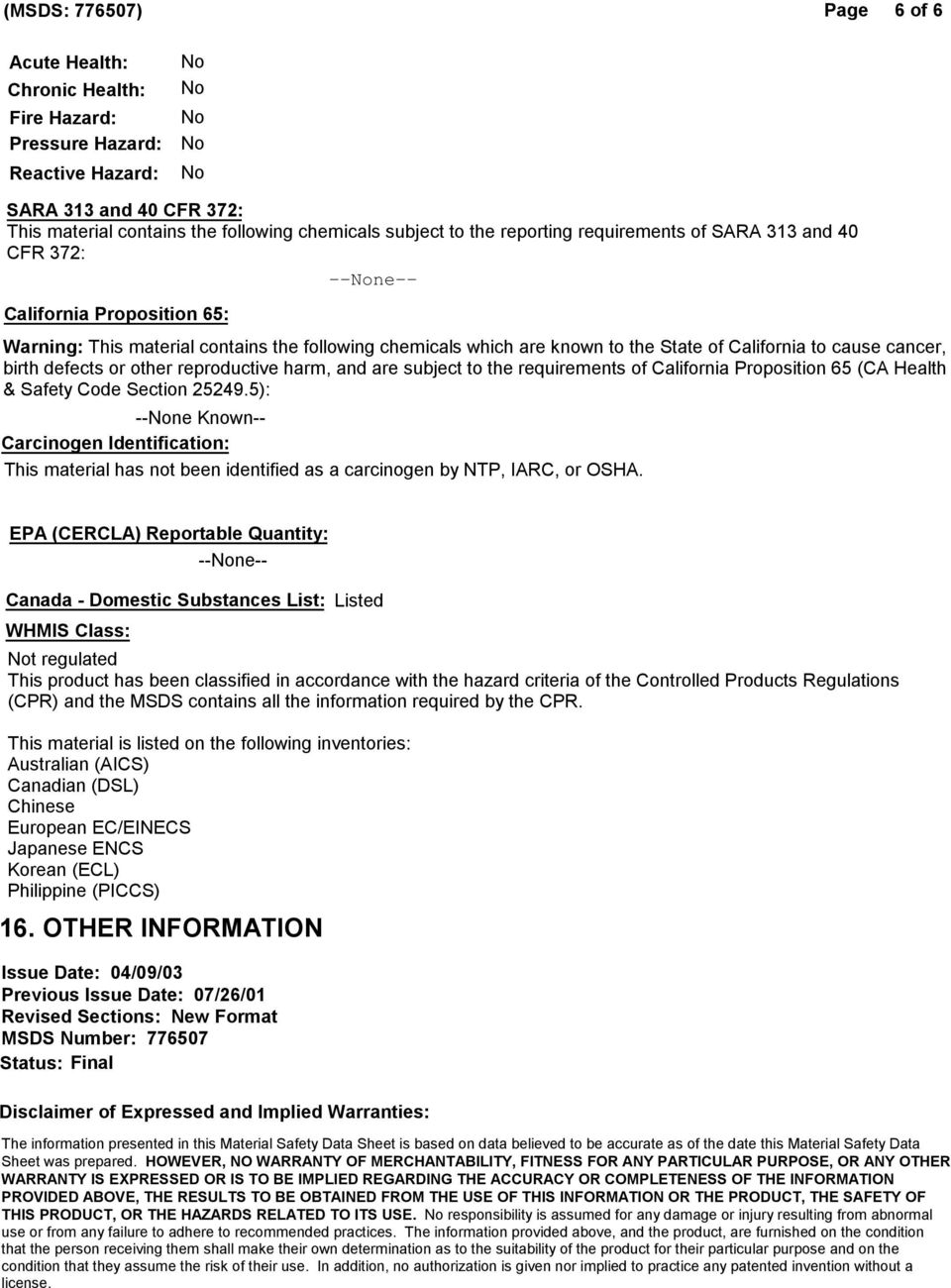 MATERIAL SAFETY DATA SHEET Penreco Drakeol Mineral Oil - USP